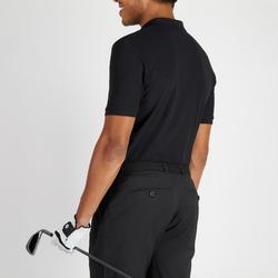 Golf Poloshirt Herren atmungsaktiv schwarz