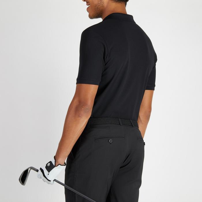 Polo de golf hombre manga corta 900 tiempo caluroso negro