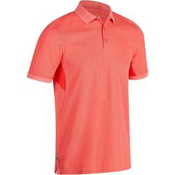 男款溫暖天候高爾夫球POLO衫-刷色紅