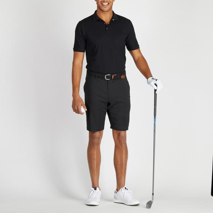 Golf Poloshirt Herren schwarz