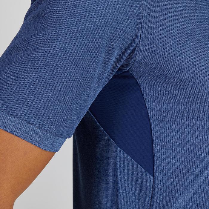 Golfpolo 900 met korte mouwen voor heren, warm weer, gemêleerd blauw