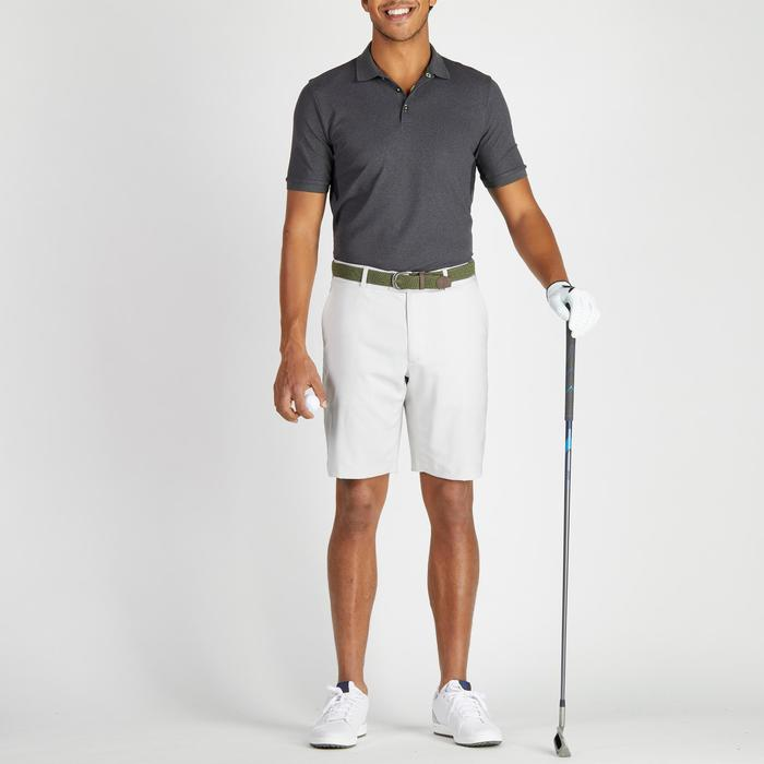 900 Men's Golf Short Sleeve Warm Weather Polo - Heather Black