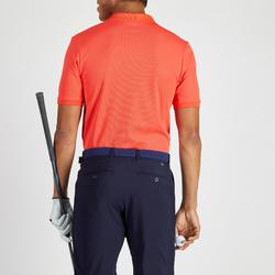 POLO GOLF HOMME RESPIRANT ROUGE CORAIL