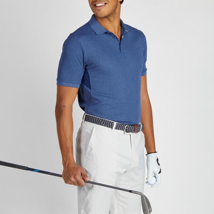 Golf Poloshirt 900 Kurzarm Herren blau meliert