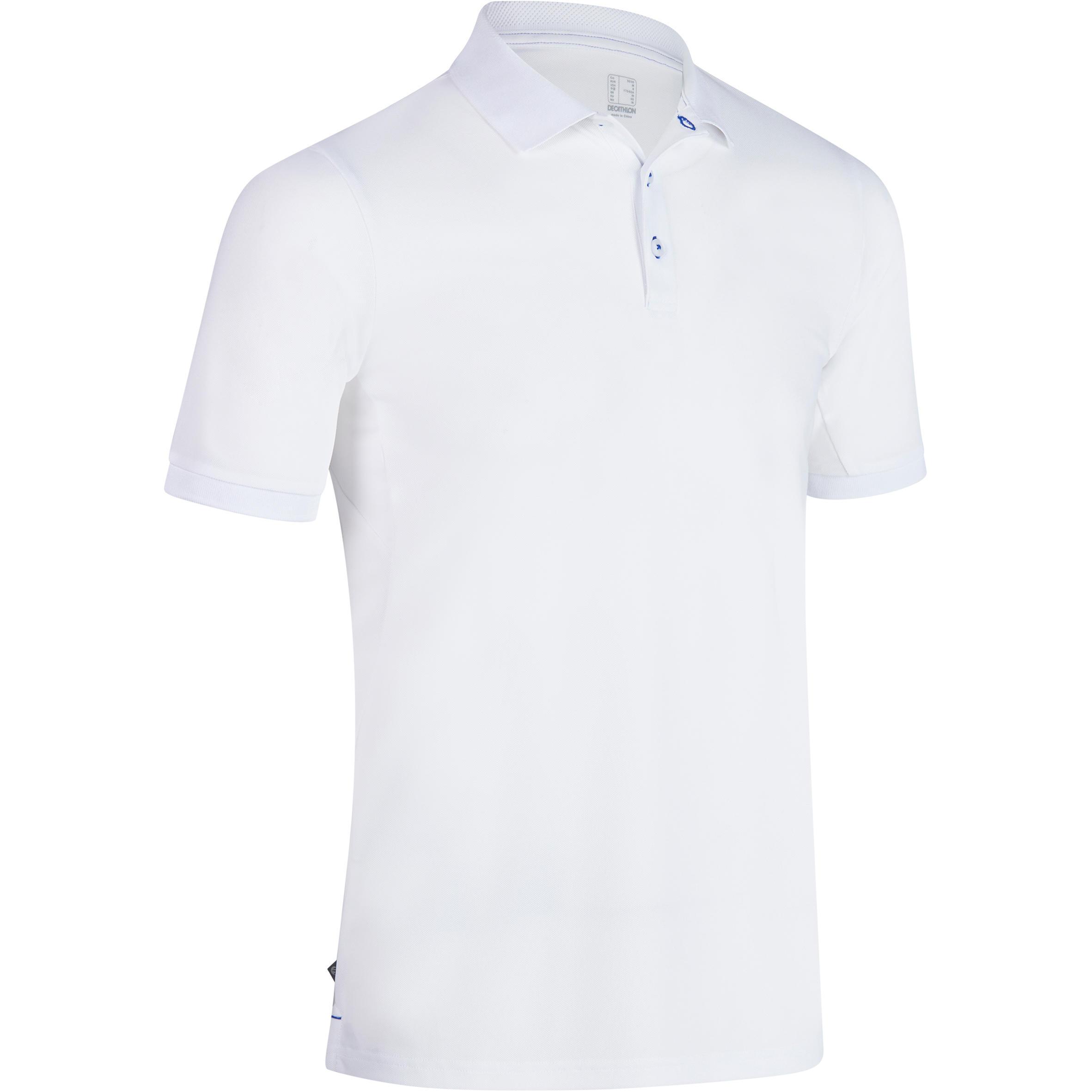 Polo de golf para hombre manga corta 900 - clima caluroso - blanco