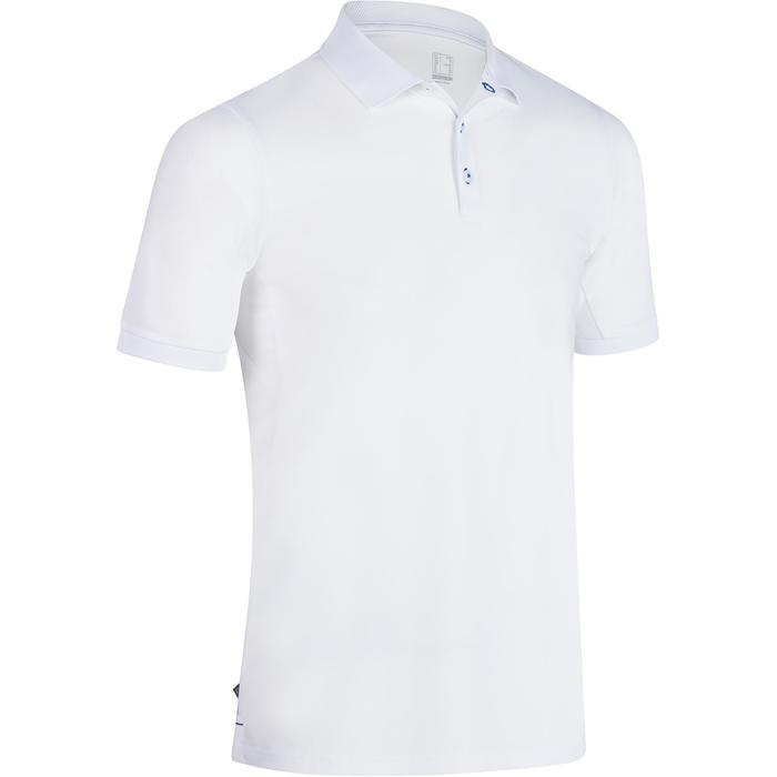 Polo de golf hombre manga corta 900 tiempo caluroso blanco