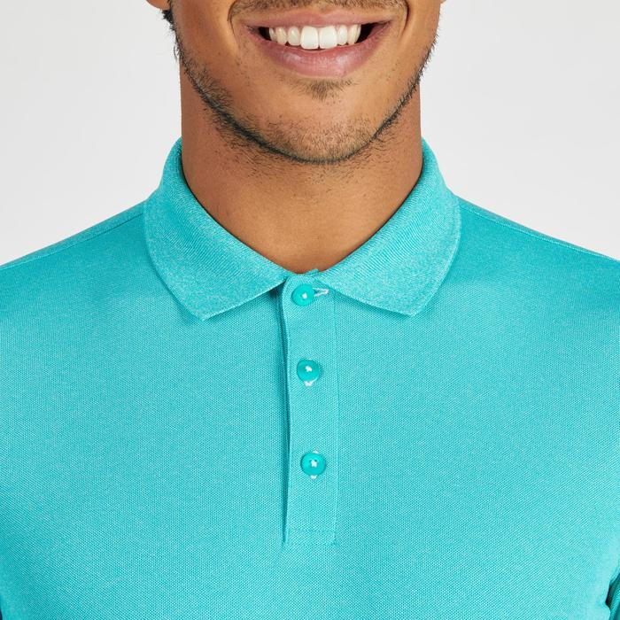 Polo de golf homme manches courtes 900 temps chaud turquoise chiné
