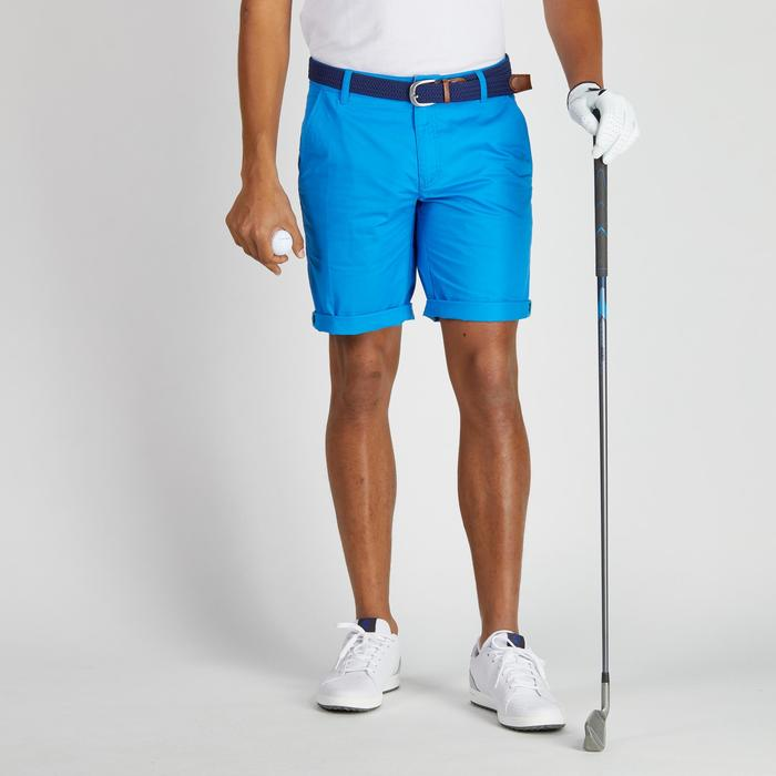 Bermuda de golf homme 500 temps tempéré marine - 1275706
