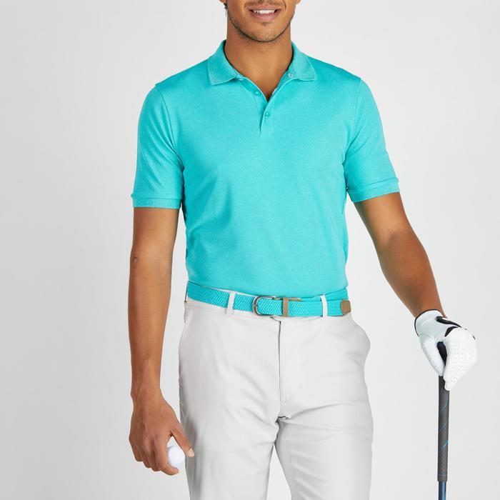 Golf Poloshirt 900 Kurzarm Herren türkis meliert
