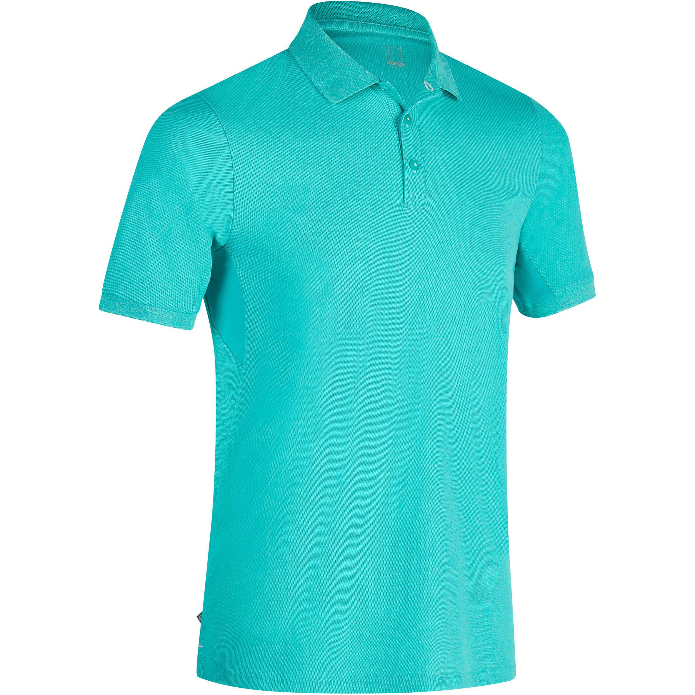 Polo de golf para hombre manga corta 900 - clima caluroso - turquesa moteado