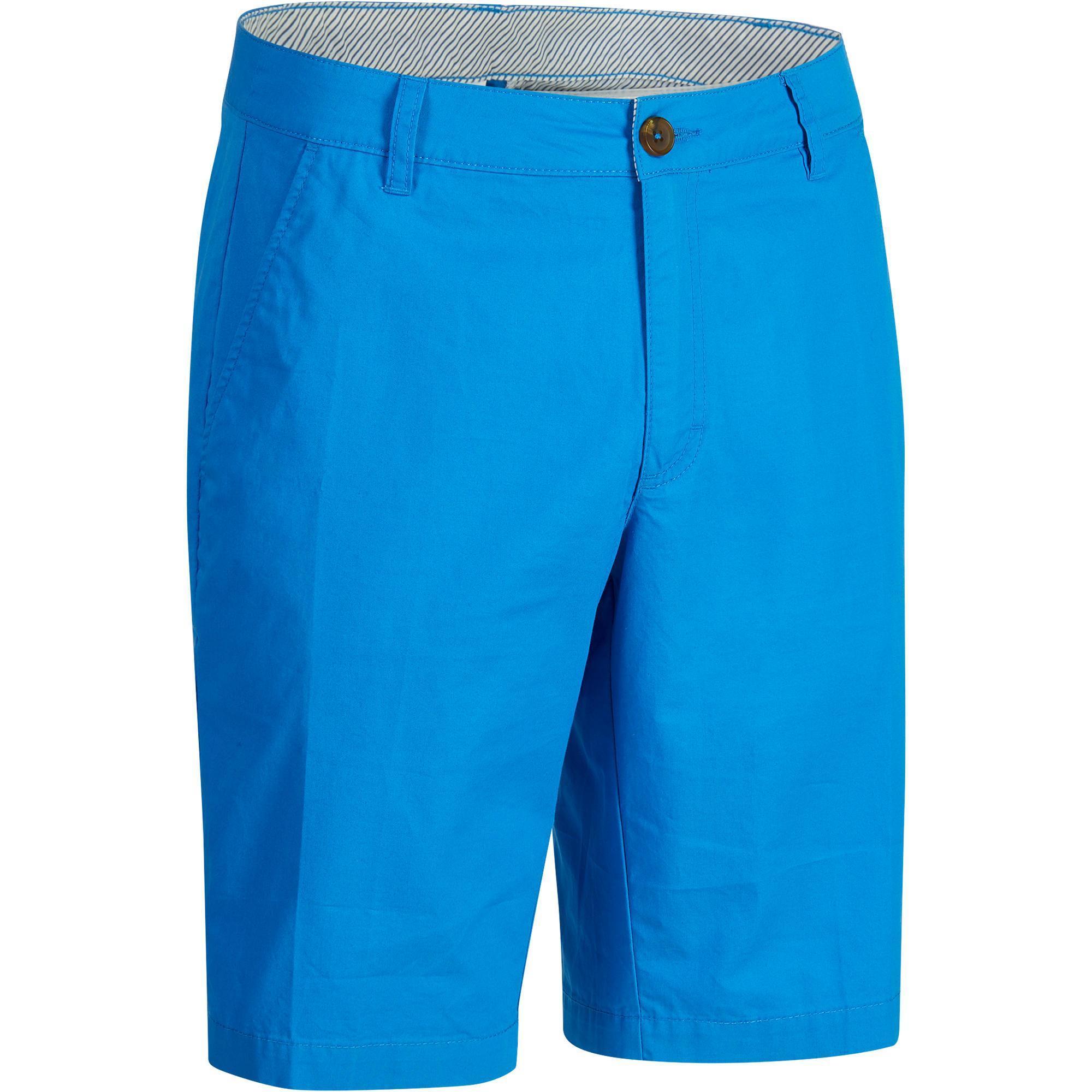 Inesis Golfbermuda 500 voor heren, zacht weer, blauw
