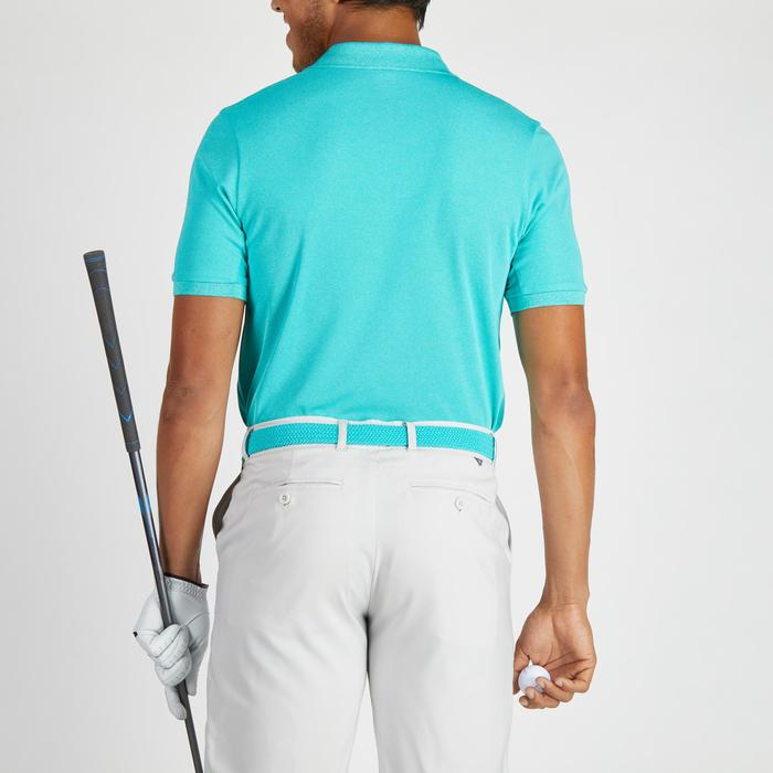 Golfpolo 900 met korte mouwen voor heren, warm weer, gemêleerd turquoise