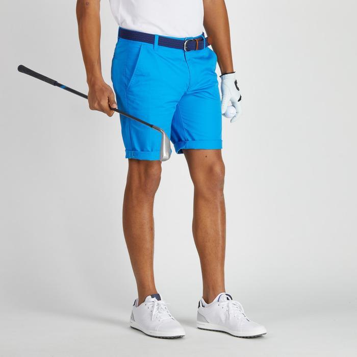 Bermudas de golf hombre 500 tiempo templado azul