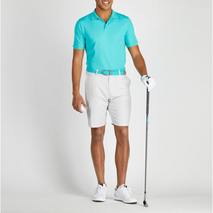 Polo de golf hombre manga corta 900 tiempo caluroso turquesa jaspeado