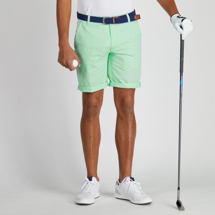 Bermuda de golf homme 500 temps tempéré marine - 1275740