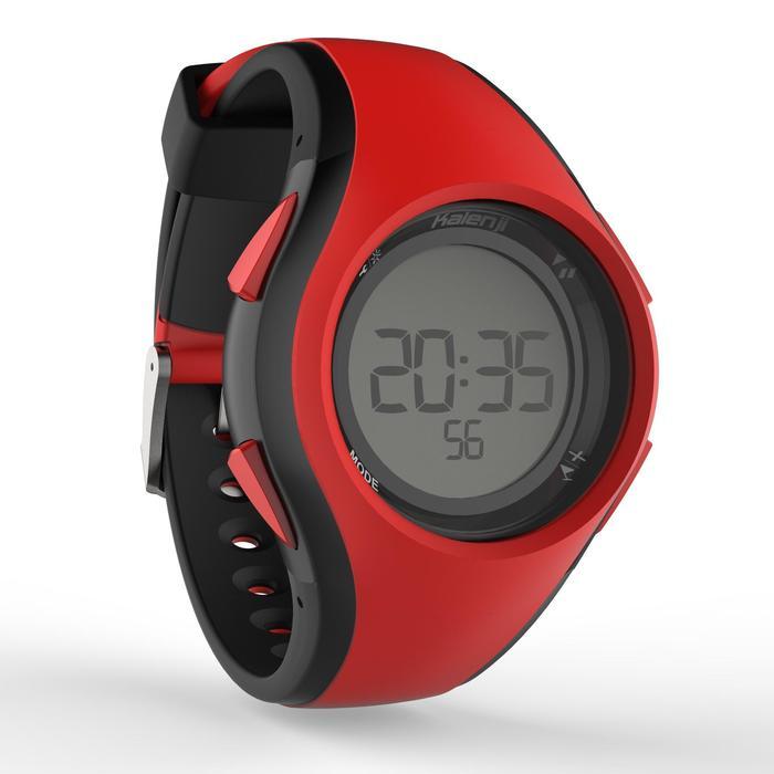 Montre chronomètre de course à pied homme W200 M rouge et noire