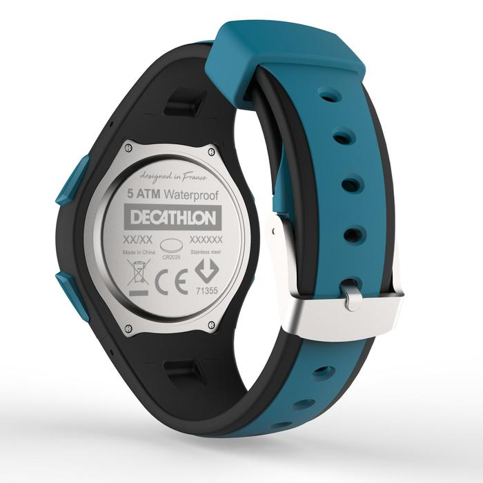 Montre chronomètre de course à pied homme W200 M bleue noire