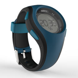Montre chronomètre de course à pied W200 M bleue noire