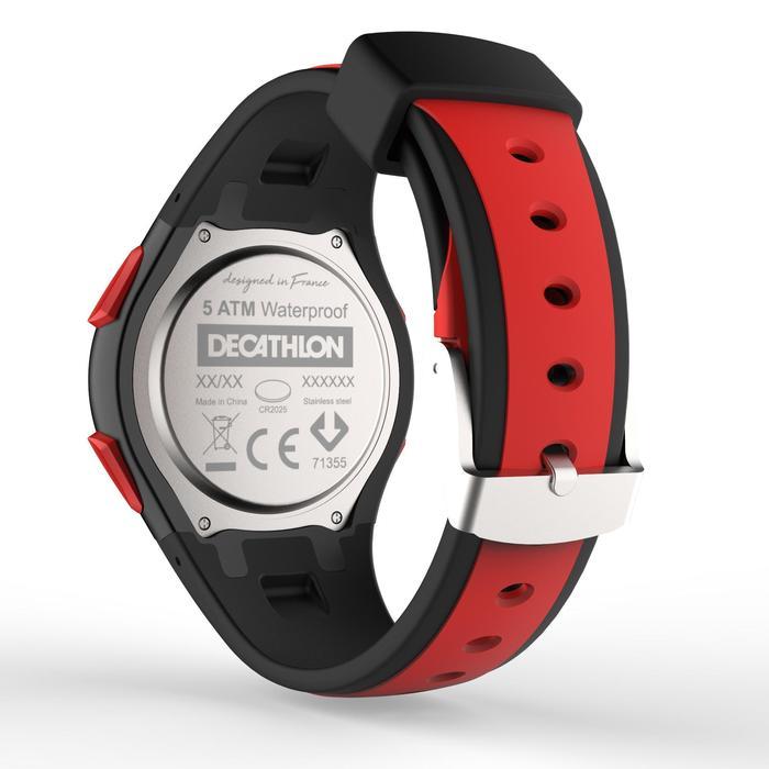 Sporthorloge stopwatch heren W200 M rood/zwart