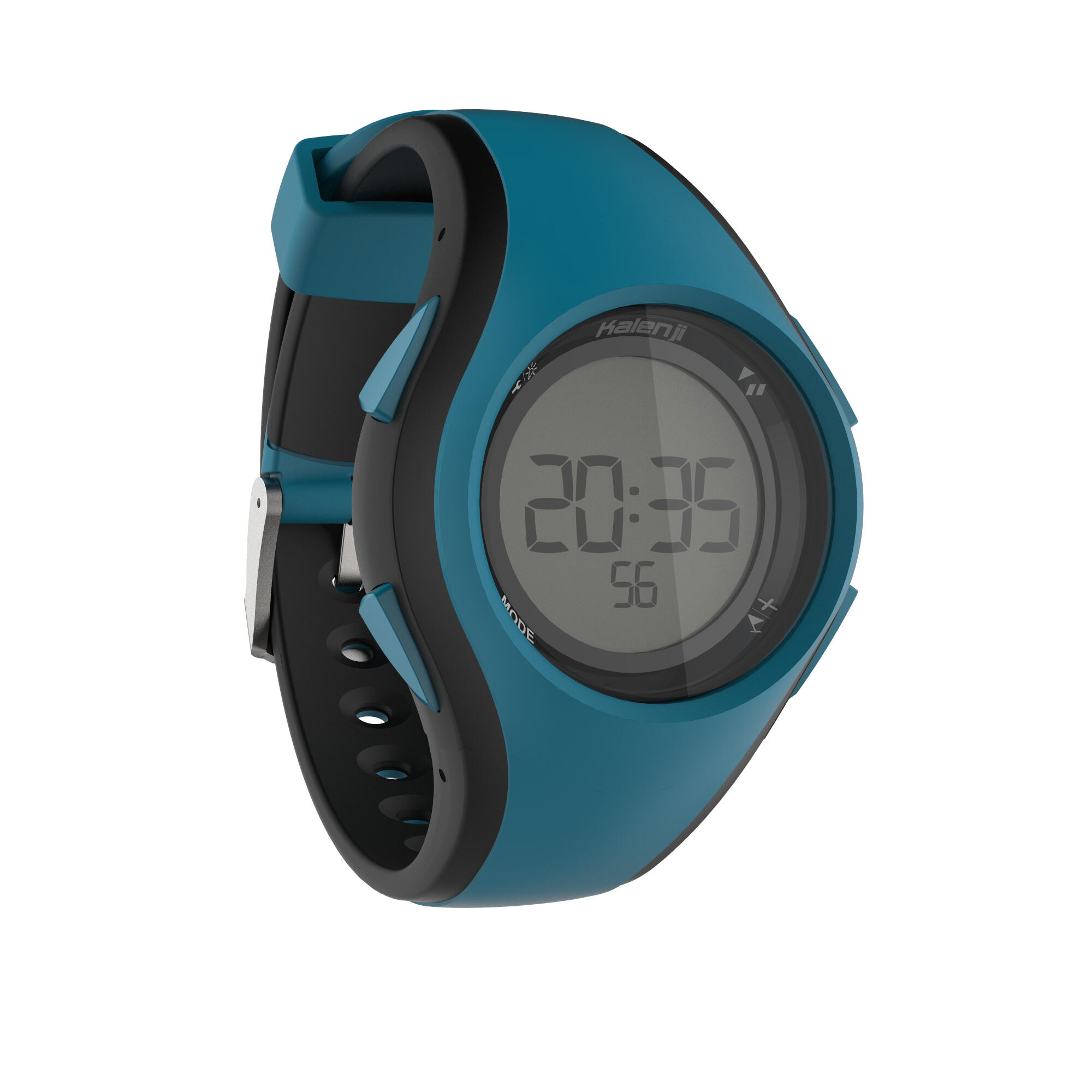 Reloj cronómetro de running hombre W200 M negro azul