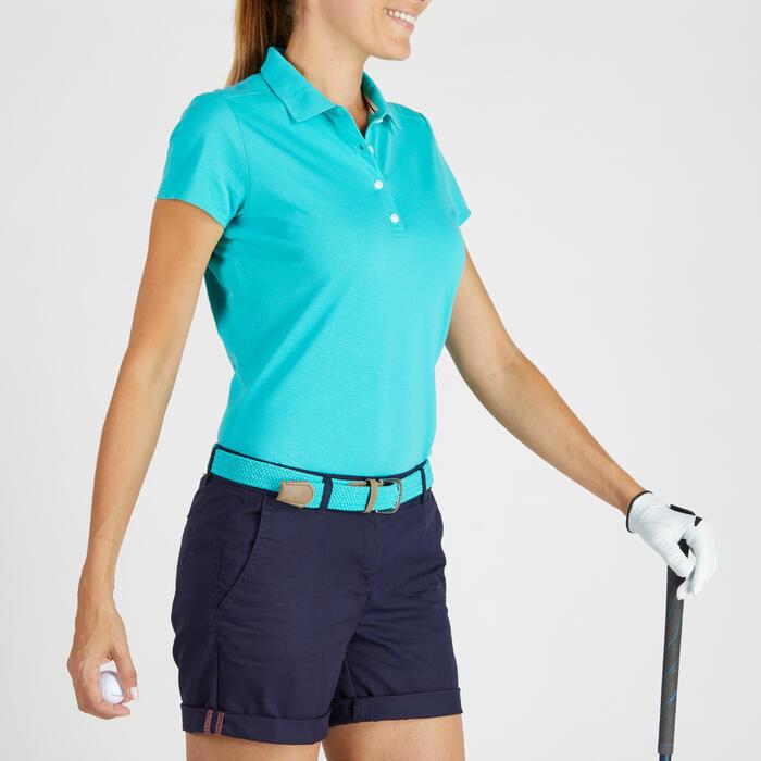Polo de golf femme manches courtes 500 temps tempéré - 1275788