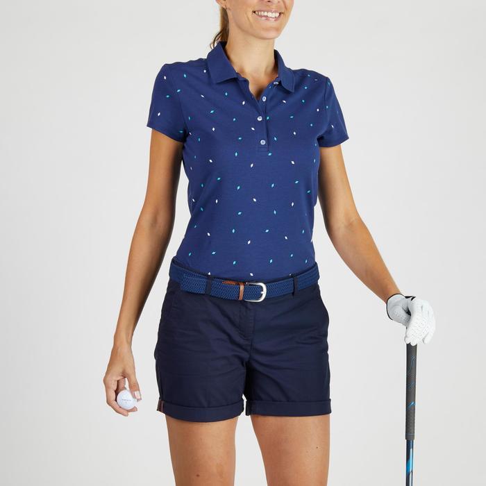 520 Women's Golf Short Sleeve Warm Weather Polo - Diamond Dark Blue