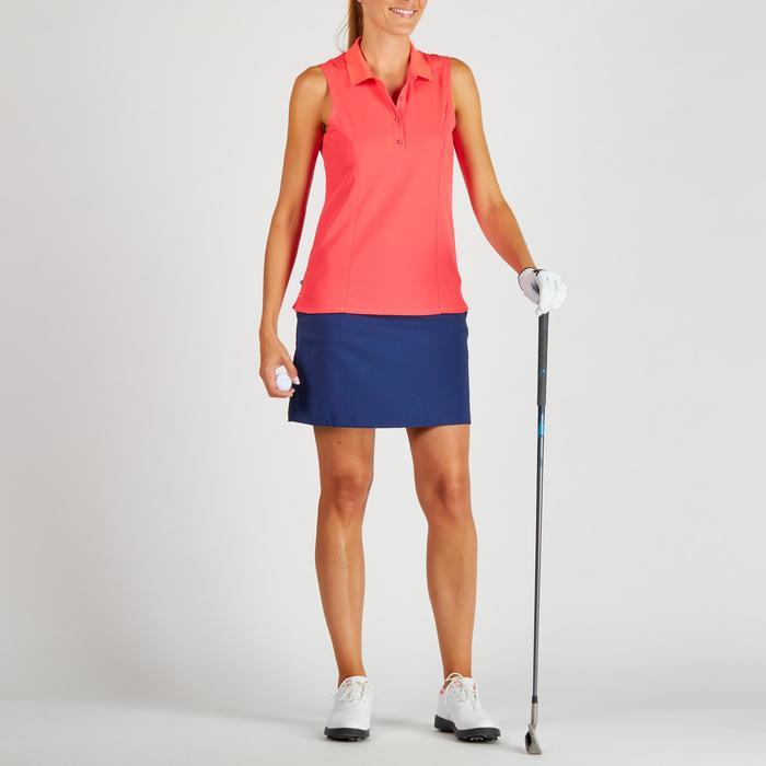 Mouwloze golfpolo 900 voor dames, warm weer, rood