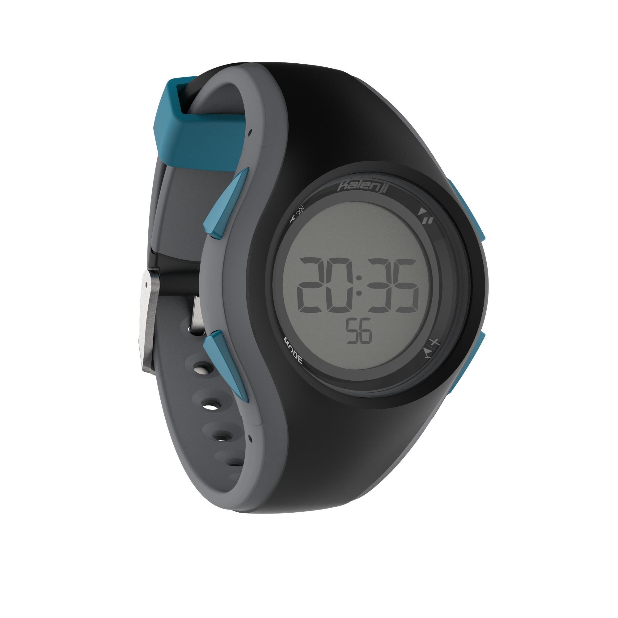 Reloj cronómetro de running hombre W200 M negro y azul