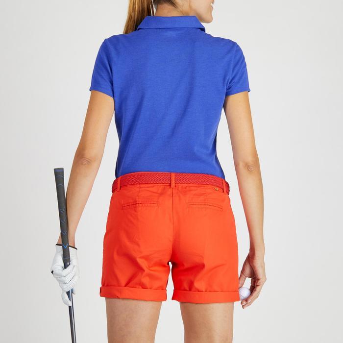 96761af9875a1 Polo de golf mujer manga corta 500 tiempo templado azul jaspeado