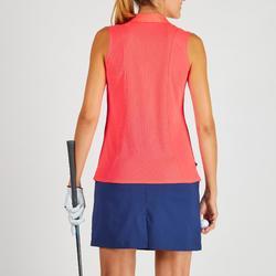 Golf Poloshirt Damen atmungsaktiv rot