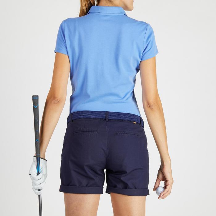 Golfpolo 500 met korte mouwen voor dames, zacht weer, lavendelblauw