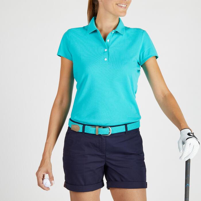 Polo de golf femme manches courtes 500 temps tempéré - 1275839