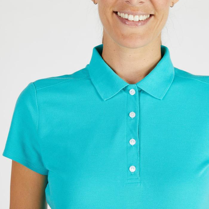 Golf Poloshirt 500 Kurzarm Damen türkis