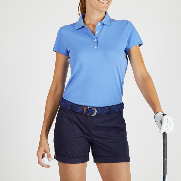 Polo de golf mujer manga corta 500 tiempo templado azul lavanda