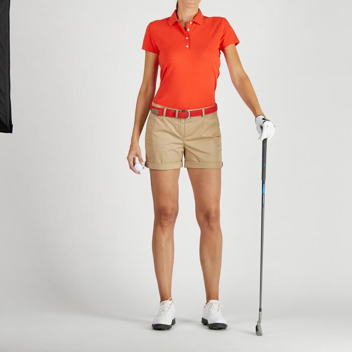 Polo de golf mujer manga corta 500 tiempo templado rojo