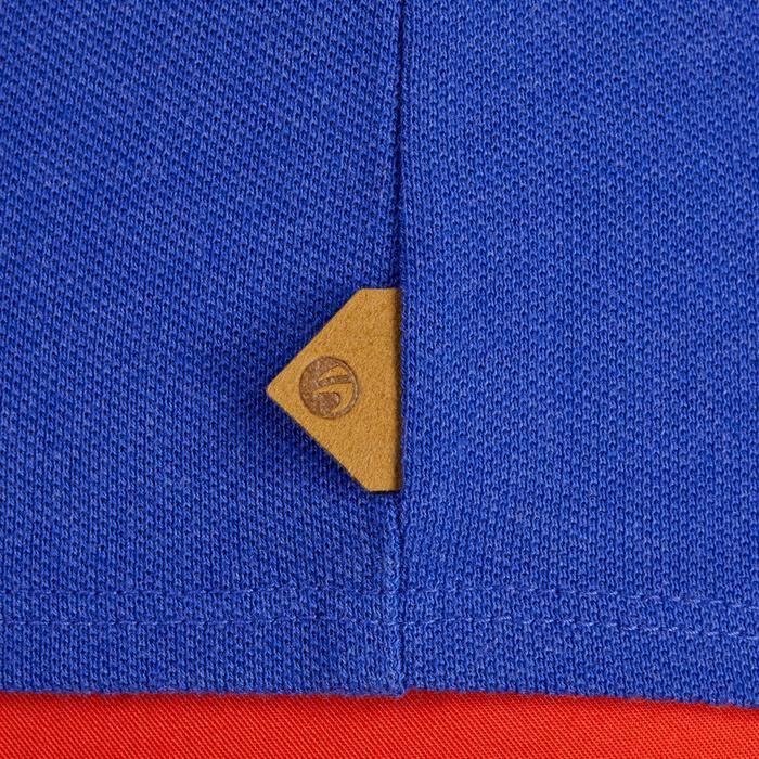 Golf Poloshirt 500 Kurzarm Damen blau meliert
