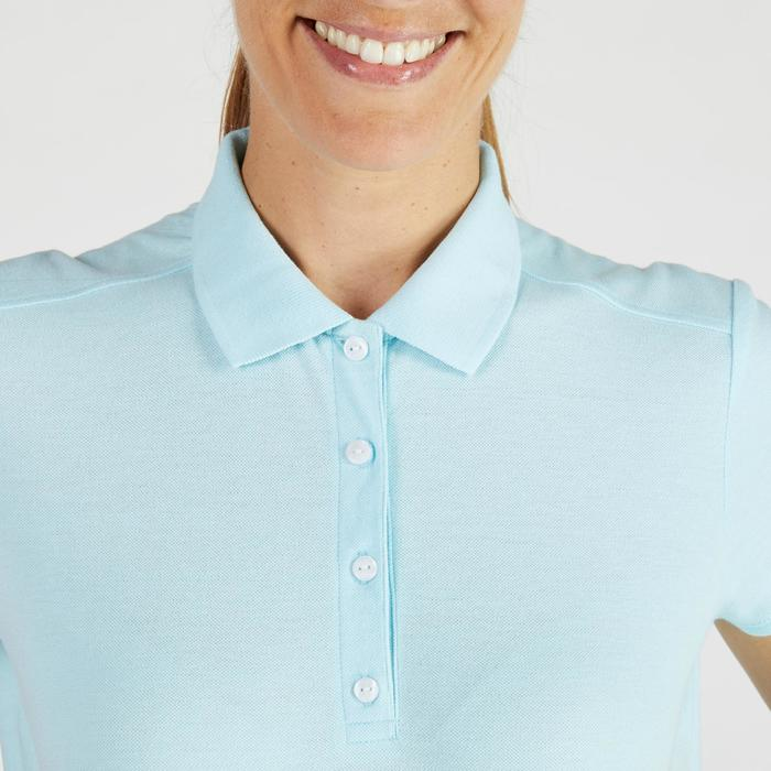 500 Women's Golf Short Sleeve Temperate Weather Polo Shirt - Sky Blue