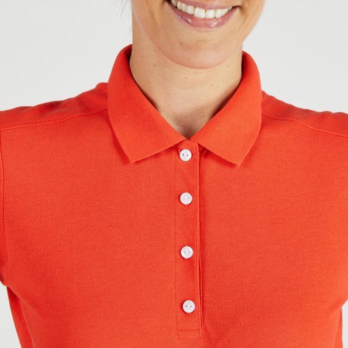 Golf Poloshirt 500 Kurzarm Damen rot