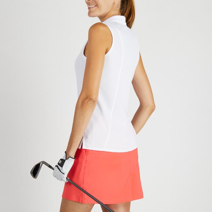 Mouwloze golfpolo 900 voor dames, warm weer, wit