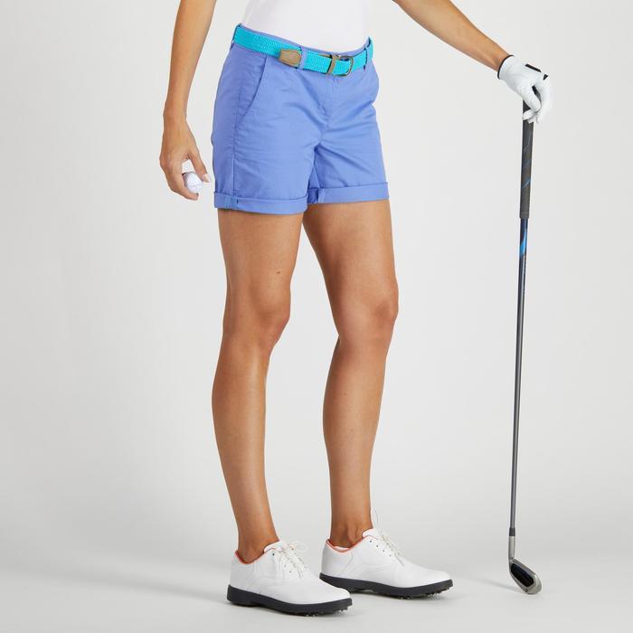 Short de golf femme 500 temps tempéré bleu lavande