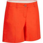 Short de golf para mujer 500 - clima caluroso - rojo