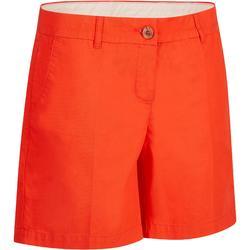 Golfshort 500 voor dames, warm weer, rood
