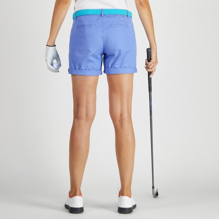 Golfshort 500 voor dames, zacht weer, lavendelblauw
