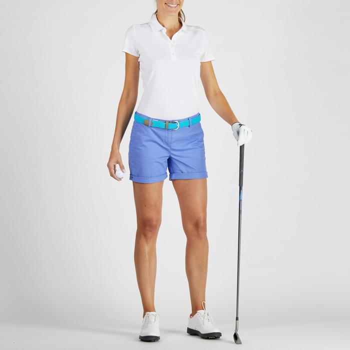 Pantalón corto de golf mujer 500 tiempo templado azul lavanda
