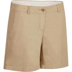Golfshort 500 voor dames, warm weer, beige