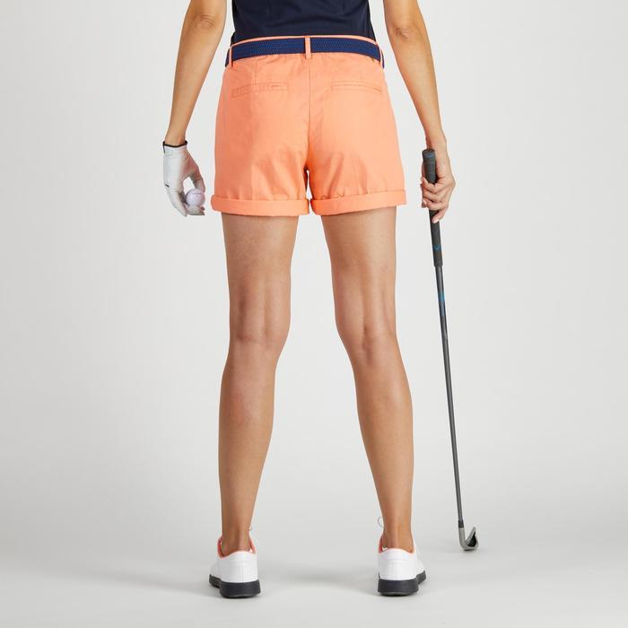 Golfshort 500 voor dames, zacht weer, koraal