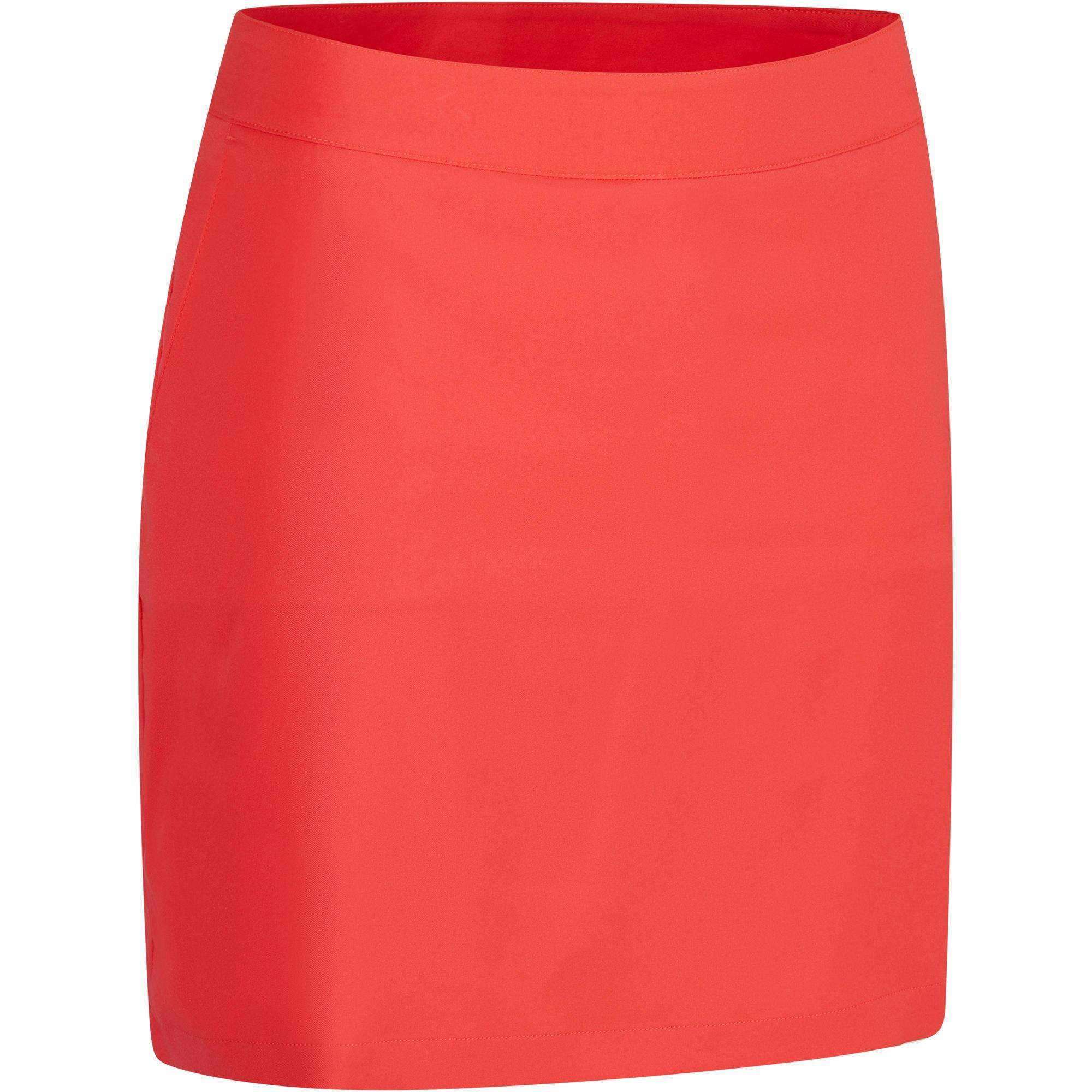 Inesis Golf shortrokje 900 voor dames, warm weer, rood