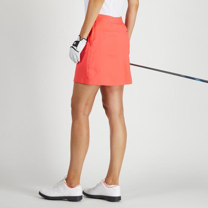 Falda-short de golf mujer 900 tiempo caluroso rojo