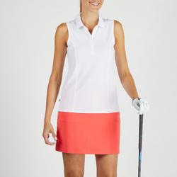 Polo de golf transpirable blanco para mujer