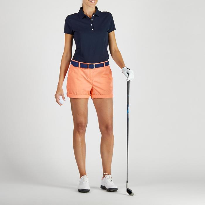 Short de golf femme 500 temps tempéré corail